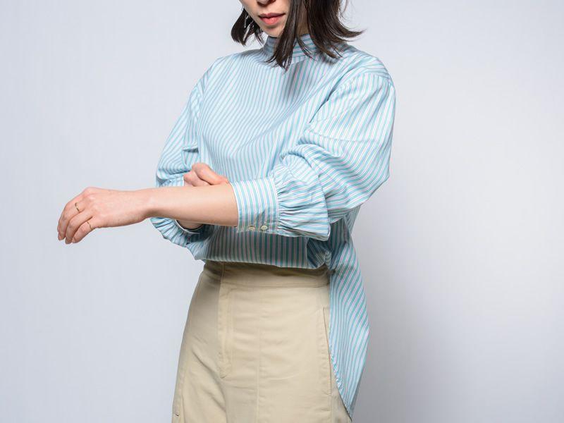 ミントグリーンの爽やか2WAYシャツ
