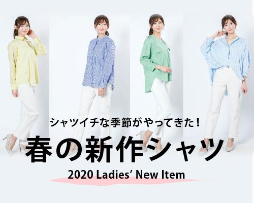春の新作レディースシャツ