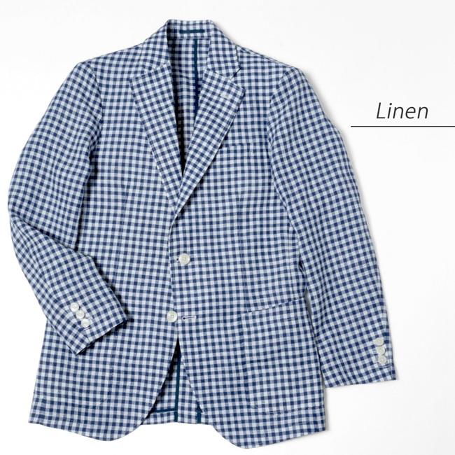 メンズジャケット 日本製 リネン素材 軽い着心地 春夏ジャケット K21KZJ201}