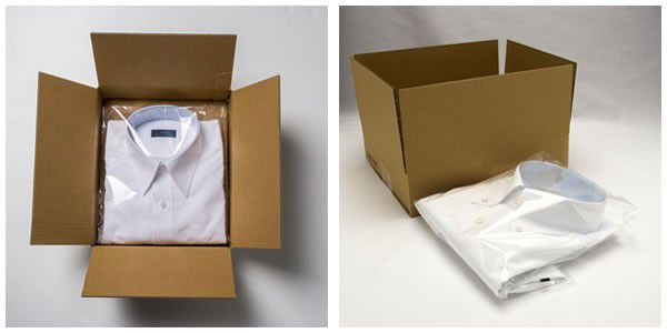 サンプルシャツの梱包について